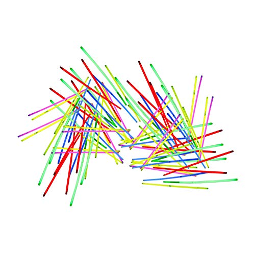 euchten Spielzeug Glow Sticks Armbänder Dunkelheit Light Sticks 100pcs 28cm ()