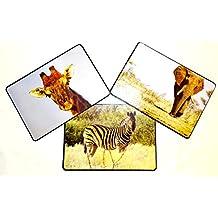 Elefant Sonnenaufgang Afrika afrike Tier Wallario Glas Schneidebrett 30 x 40 cm