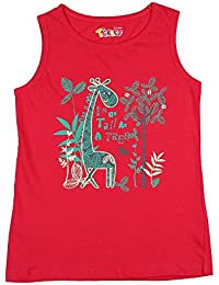 Tickles Girls Red Printed Top