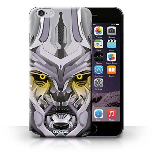 Kobalt® Imprimé Etui / Coque pour iPhone 6+/Plus 5.5 / Opta-Bot Vert conception / Série Robots Mega-Bot Jaune