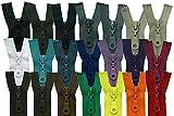FIM Reißverschluss Plastik Zähne Nr.5 mittelgrob Teilbar für Jacken Farbe: 1 - schwarz (322), 70cm lang