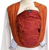 Didymos 461002 Babytragetuch, Modell Ellipsen rubin-mandarine, Größe 2
