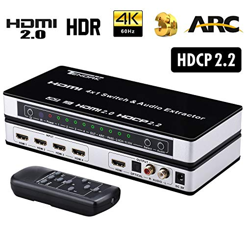 Tendak HDMI 2.0 Switch 4 Port HDMI
