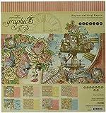 Papel gráfico 45, multicolor, tamaño mediano, 20,3 x 20,32 cm - Imagine