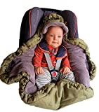 VierJahreszeiten Einschlagdecke für Babyschale & Kinderwagen by Locens - Praktischer als ein Fußsack - 2 Schichten (Baumwolle + Thermo Fleece) für  Sommer, Übergangszeit, Winter - Maxi Cosi und Cybex