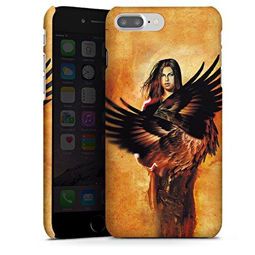 Apple iPhone X Silikon Hülle Case Schutzhülle Engel Flügel Frau Premium Case glänzend