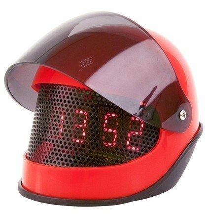 Despertador Casco de Moto en Rojo