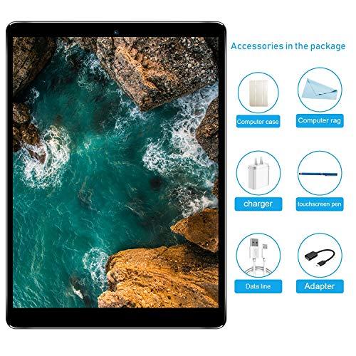 Tablet 10.1 pollici sbloccato, Tablet PC Android 7.0 con slot per scheda SIM doppio, 3G, GSM, Octa Core(eight), memoria RAM da 3 GB + 32 GB, fotocamera integrata Dual Camera, Bluetooth, Wi-Fi e GPS