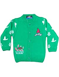 Bombay Fashion Woollen Knitted Baby Sweater (3 Month-1 Year) (Green_ BF- 10)