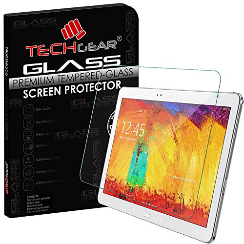 TECHGEAR® Samsung Galaxy Note 10.1 2014 Edition (SM-P600/P605) echtes Sekuritglas Displayschutzfolie Guard Cover (Lcd Display Screen Cover)