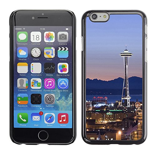 Graphic4You Seattle Skyline Postkarte Ansichtskarte Design Harte Hülle Case Tasche Schutzhülle für Apple iPhone 6 / 6S Design #1