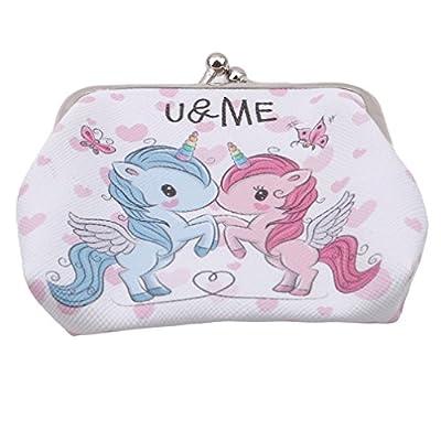 LJSLYJ Cute Animal Unicorn Pattern Wallet Money Coin Purse Travel Bag