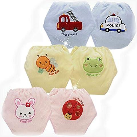 ledyoung bébé Potty réutilisable pour bébé 4Couche en pantalon, Lot de 6
