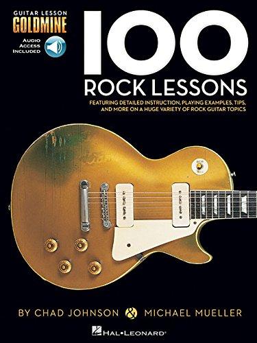 100 rock lessons guitare+2cds (Guitar Lesson Goldmine)