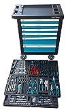 Carro de herramientas de taller profesional con herramientas 155 pzs reales incorporadas