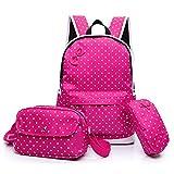 Sac à dos de fille mignonne, mode princesse respirant Nylon équitation sac à dos de voyage léger Ultralight randonnée Sports sac à dos de la personnalité sac d'école, bleu, rose, violet, rouge ( Design : G )