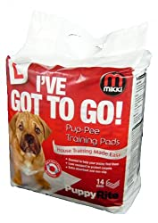 Mikki Training Pup-Pee Pads House Training Pads Designed Specifically For Puppies With Easy Sliding Adjuster, 14 Pack