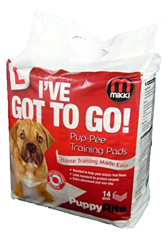 Mikki Pup-pee Welpen-Trainingstücher für die Erziehung zur Stubenreinheit - 14 Stück
