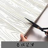 Jedfild Stilvolle Wood-Grain 3D Wall Oberfläche Selbstklebend TV Hintergrund Tapete Tapete Schlafzimmer Wohnzimmer Wand Wasserdichte Schürze - König, Espresso Braun