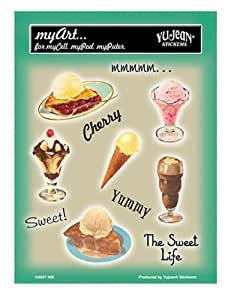 """NSI - Retro Sweets Mini 6 Set autocollant Sticker - 4"""" x 6"""" - Weather Resistant, Long Lasting for Any Surface"""