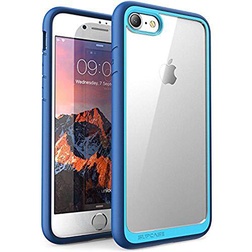 SUPCASE Hülle für iPhone 8 Handyhülle Premium Case Hybrid Schutzhülle, Transparent Cover [Unicorn Beetle Style] für iPhone 7 / iPhone 8, Blau
