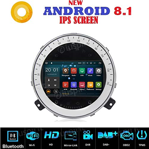 Android 8.1 GPS DVD USB SD WI-FI Bluetooth MirrorLink Autoradio Mini Cooper 2006-2103 (Cooper Navigation Mini Dvd)