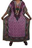 Indiatrendzs Women Kaftans Dress Pink Fl...