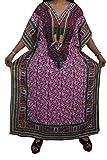 Indiatrendzs Women Kaftans Dress Pink Fl...