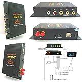 Mobile Voiture la Télévision numérique(DVB-T MPEG4), Double Tuner, 4 Sortie Vidéo 2 Sortie Audio TV Récepteur