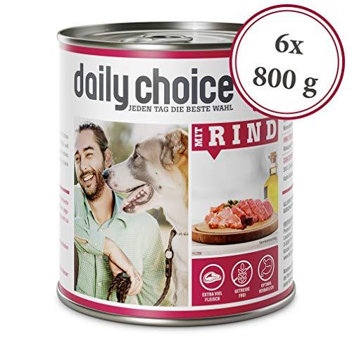 daily choice   6 x 800 g   Nassfutter für Hunde   getreidefrei   Mit Rind   70{d93422bdc743c3df42b5000315acaf77f782891309168b3cb13231a644e30309} Frischfleisch- und Innereienanteil Optimale Verträglichkeit
