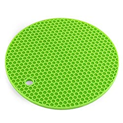 New Multipurpose Non-slip Silicone Mat Round Honeycomb Dining Table Mats Heat Resistant Durable Bowl Coffee Cup Pads Placemat green
