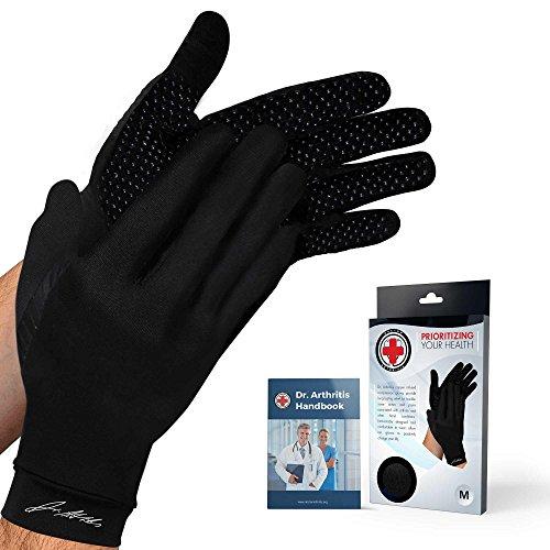 Dr. Arthritis – Lange Arthritis Kompressions-Handschuhe mit Kupfer verstärkt (Paar) und von Ärzten verfasstes Handbuch –...