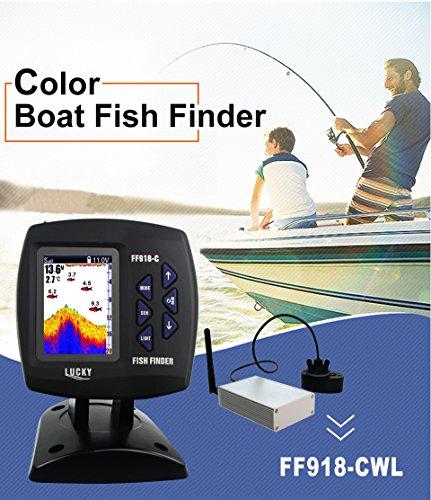 Upgrade Lucky Farbe Drahtlos-Boote Fisch-Finder 300m/980ft Wireless Reichweite Angeln Fernbedienung Fishfinder ff918-cwl 300 Fishfinder