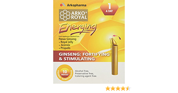 Arko Royal Energing Stimulating Complex Capsules Pack Of 10 Amazon Co Uk Health Personal Care
