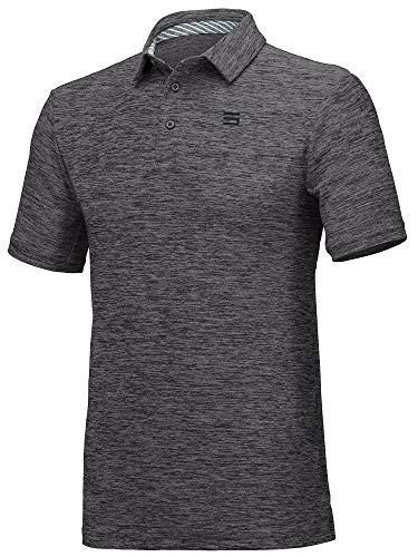 Jolt Gear Golf-Shirts für Herren - Dry Fit Kurzarm Polo, sportlicher lässiger Kragen, Herren, schwarz, 3X-Large - Knit Black Slate