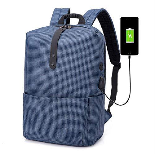 Plaid Herren Rucksack (Kreative Rucksack Rucksack Zwei-Schulter-Tasche Studenten Rucksack Casual Bag Herren Zwei-Schulter-Computer-Rucksack Reisetasche Plaid Blue)