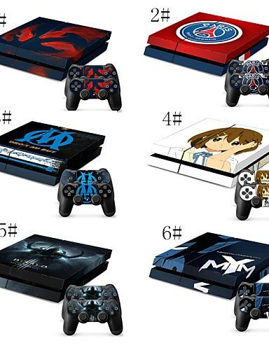 One Piece/Cartoon Character Skin Sticker for PS4 Consol 2 Matching PS4 Controller Stickers Platstation 4 , 4#