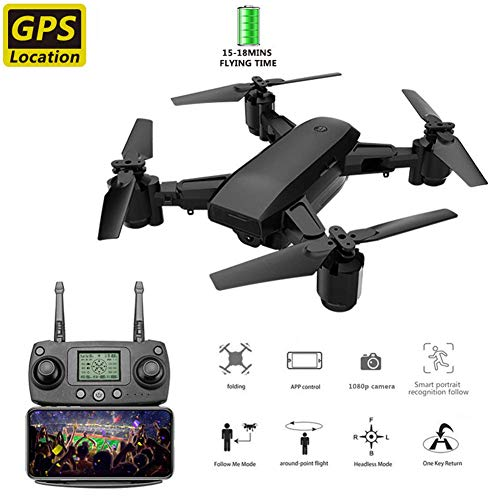 HAWK LI 5G RC Drohne mit 1080P 5MP Kamera Faltbare Mini Quadrocopter 4CH 6-Achsen WiFi FPV Drohne Eingebaute GPS Smart Auto Return Home, Follow Me