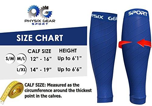 Calf Compression Sleeve for Men & Women, Best Footless Socks for Runners Calves & Leg Cramps, Shin Splints Circulation Remedy, Support Stockings, Running Gear Basketball Lycra tights, Free Ebook