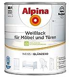 ALPINA Weißlack für Fenster und Türen Weiss Glänzend 750 ml