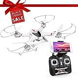 DBPOWER FPV Drone avec Caméra WiFi Live Video 2.4GHz 4 Chanel 6 Axe Gyro...