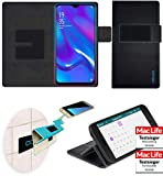 reboon Oppo RX17 Neo Hülle Tasche Cover Case Bumper | Schwarz Leder | Testsieger