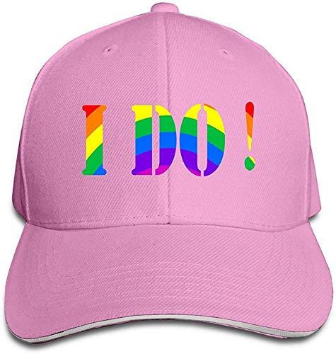 I Do Gay & Lesbian Cool Hip Hop Adult Unisex Cap Pink