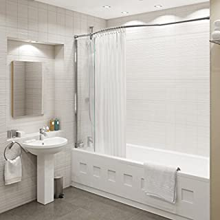 Kudos Inspire Over Bath Shower Panel with Shower Curtain Rail
