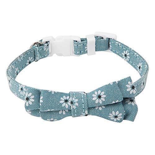 Bicaquu Double Layer Katzenhalsband Puppy Dog Bow Tie Bowknot Umhängeband(02)