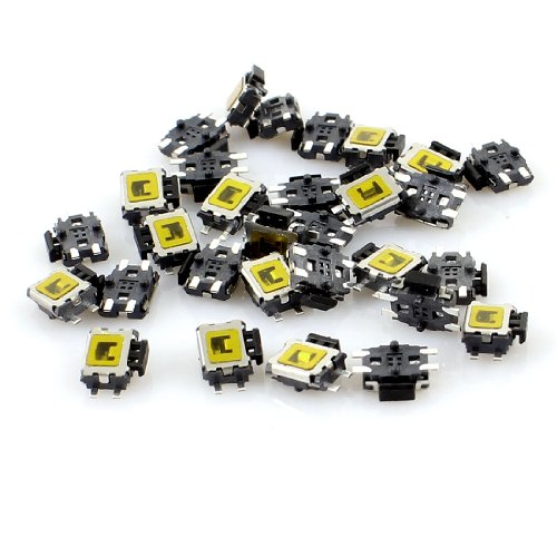 Preisvergleich Produktbild Aexit 30pcs 5x 4x 1.6mm Pin Momentary Push Button Mini SMD SMT Taktile Tact Switch