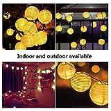 LED Lichterkette Lampions Innen und Außen 6 Meter 30 LEDs laternen lichterkette Wasserfest für zimmer, Party, Garten, Weihnachten, Halloween, Hochzeit, Beleuchtung Deko (Warmweiß)