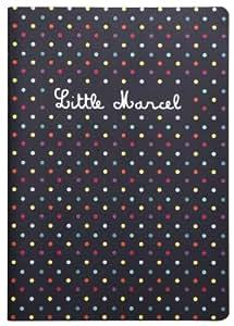 Clairefontaine Little Marcel Cahier piqué A5 96 pages Ligné Motif Pois