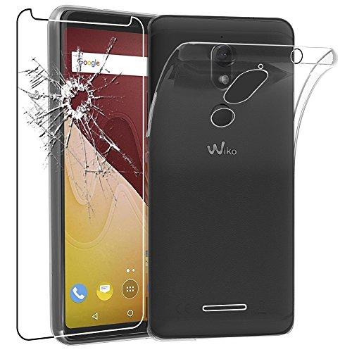 ebestStar - Wiko View Prime Hülle Handyhülle [Ultra Dünn], Durchsichtige Klar Flex Silikon Schutzhülle, Transparent + Panzerglas Schutzfolie [Phone: 152.3 x 72.8 x 8.3mm, 5.7'']