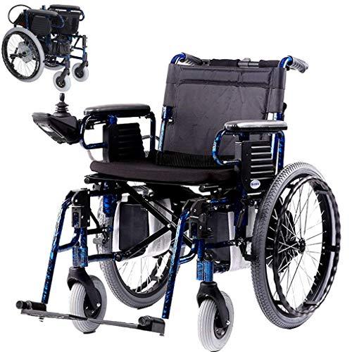 L-Y Leichte Ältere Praktische Elektrorollstuhl, Faltrollstuhl Rollstuhl Automatische Induktion Elektromagnetische Bremse Manuelle/Elektrische Schalter 600W Motor Aluminiumlegierung Rahmen -